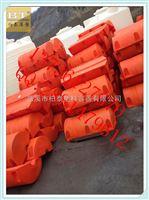 FT60*100潭城水电站拦污排塑料拦污浮筒工程