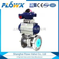 气动不锈钢球阀  DN100气动法兰球阀  供应于环保行业